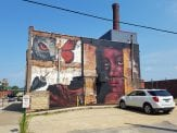 Wall mural in downtown