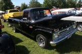 black Ford antique truck
