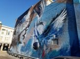 artistic grafitti in downtown Dubuque