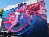 Dubuque grafitti on wall