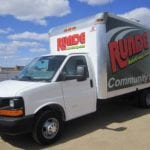 Runde Community Support truck next to Mississippi River