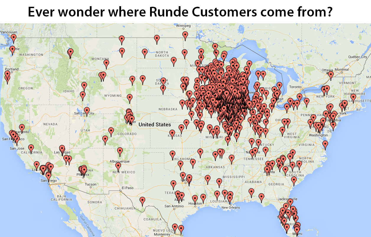 Runde Auto Group Sales Map