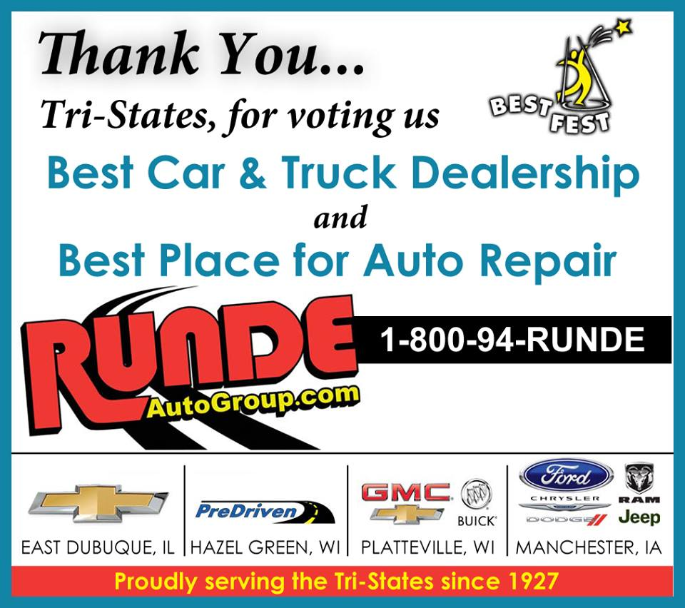 Dubuque Best Fest Winner announcement for Best Car Dealership