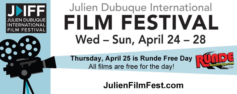 Julien Dubuque Film Festival banner
