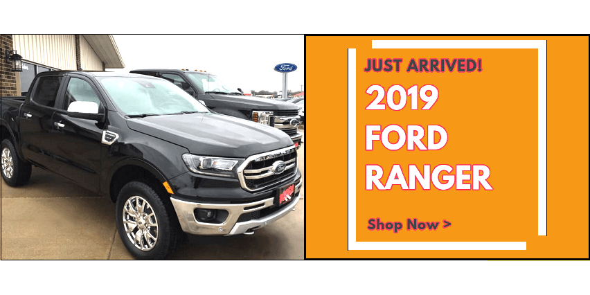2019 Ford Ranger truck banner