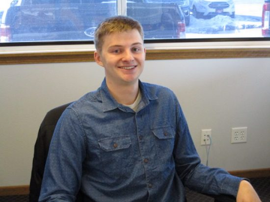 Salesman Taylor Whittle at Runde Auto Group in Manchester