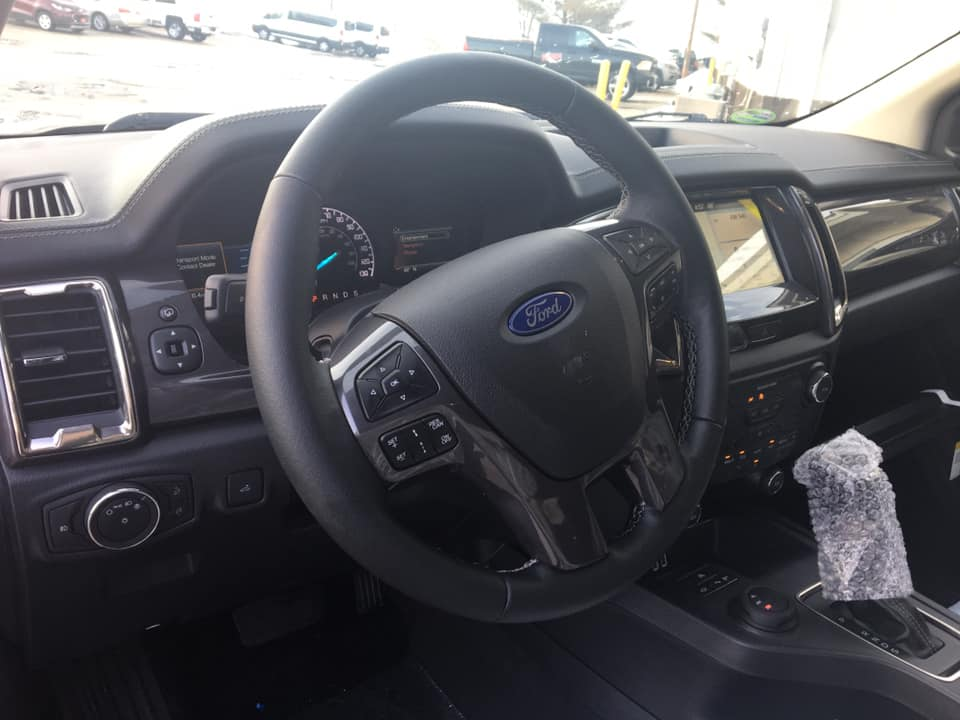 Interior shot of a 2019 Ford Ranger at Runde Auto Group in Manchester Iowa
