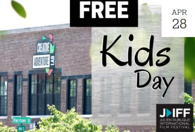 Advertisement for Runde Auto Group Kids Day at the Julien Dubuque Film Festival