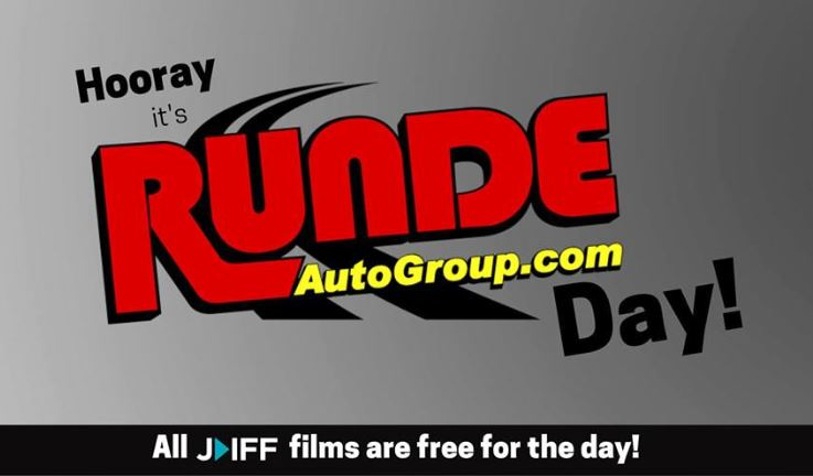 graphic advertising Runde Auto Group Day at the Julien Dubuque Film Festival