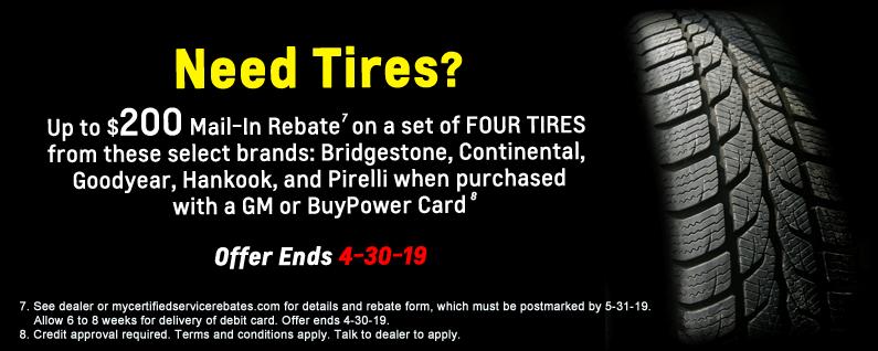 Car Tire Rebate advertisement banner