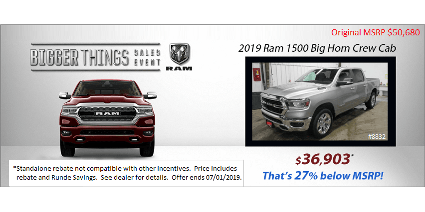 2019 Ram Big Horn Crew Cab for sale in Manchester Iowa