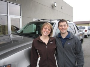 Jenna and Matt R. and their 2008 Chevrolet Avalanche.